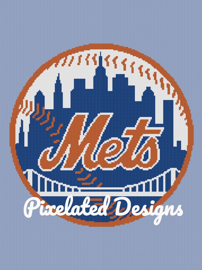 Mets Pattern - SC - 180x240 Throw - Graph w/Written