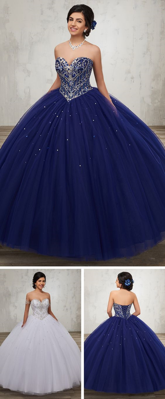 Tulle quinceanera ball gown with strapless sweetheart neck line