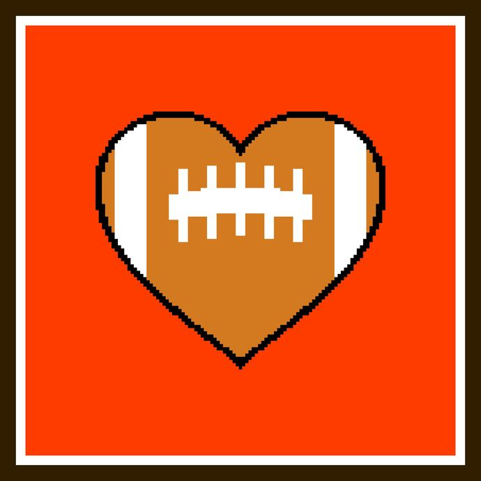 Heart the Cleveland Browns
