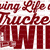 Loving Life as a Trucker's Wife Vinyl Decal Sticker 18 Wheeler Semi Truck Driver
