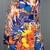 Ivory/Orange/Blue Tropical Paradise Flower Fabric with Adjustable Tie