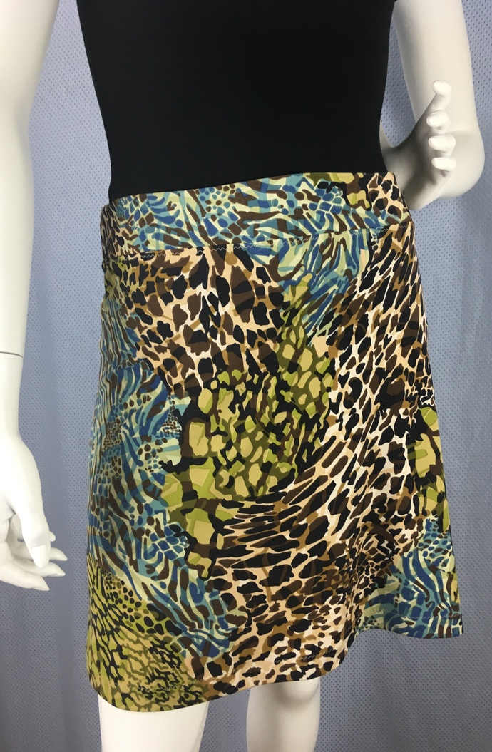 Multi Colored Flowing Leopard Print Fabric with Adjustable Tie Comfortable