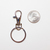Silver Lobster Clasp Keychain