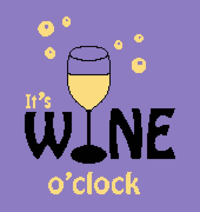 It's Wine O'Clock - White Wine