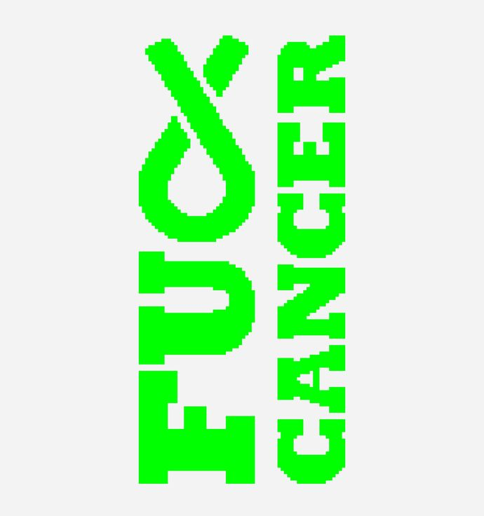 """F"" Cancer - Lime Green Ribbon - Non Hodgkins Lymphoma"