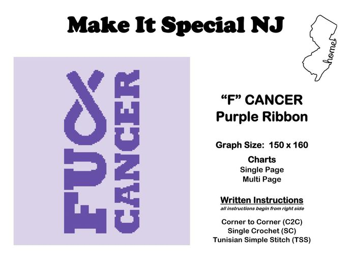 """F"" Cancer - Purple Ribbon - Pancreatic Cancer, Leiomyosarcoma & Cancer Survival"