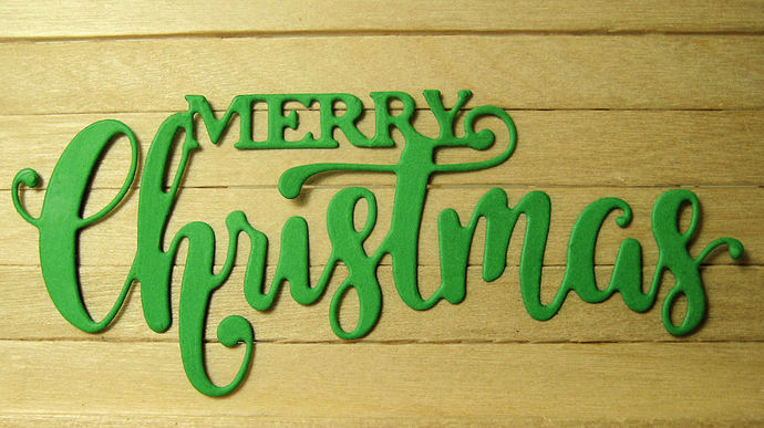 Merry Christmas Cutting Die Style #2 Word Text Dies
