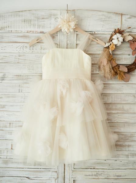 Gorgeous Tulle Flower Girl Dresses,Ivory Flower Girl Dress,Lovely Flower Girl