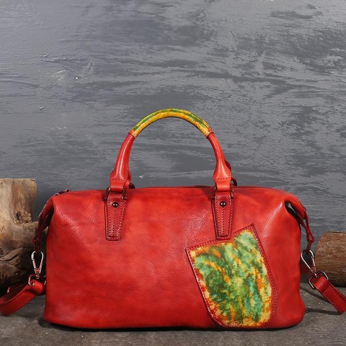 Handmade Full Grain Leather Handbags for Women Large Designer Ladies Shoulder