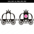 Princess carriage SVG, Carriage Clipart,Svg files,SVG Cut files,Silhouette Files