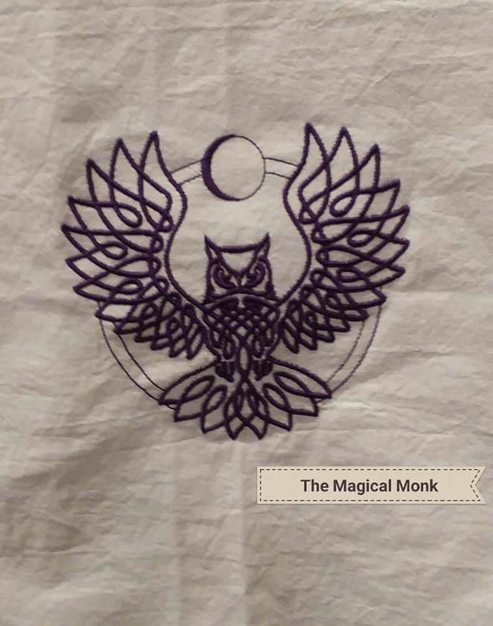 Moon Owl   Tea Towel