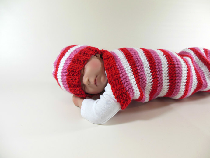 Custom Made to Order Valentine Cocoon Set, Valentine Sleep Sack, Valentine