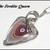 Corvette Fordite Heart Pendant in Sterling Silver Wire With Chain