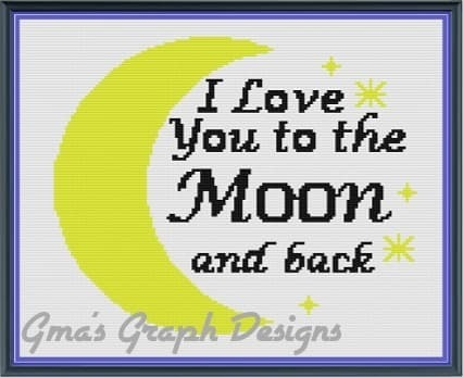 I Love You to the Moon and Back throw