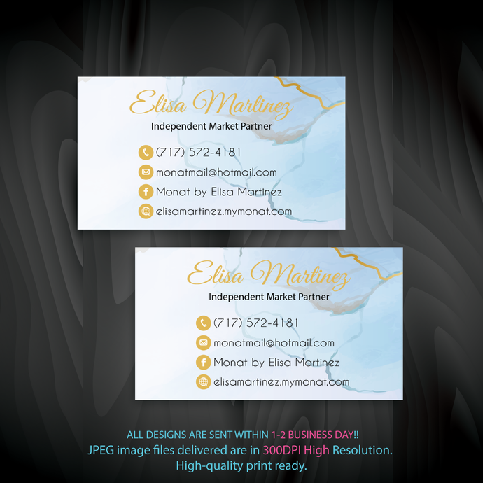 Personalized Monat Business Cards, Custom Business Cards, Monat Business Cards,