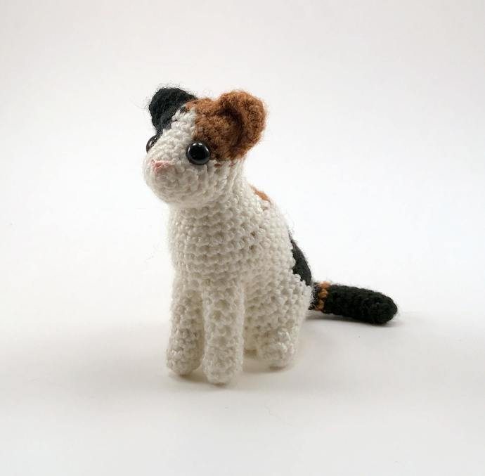 Calico Cat Realistic Crocheted Plush - *READY TO SHIP*