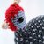 Guinea Fowl (Pearl Gray) Realistic Crocheted Plush - *READY TO SHIP*