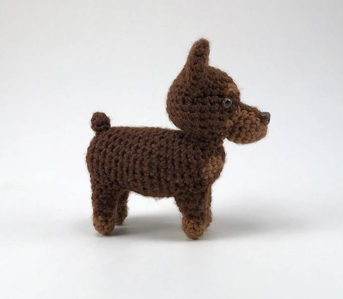 Doberman Pinscher (Red) Realistic Crocheted Plush - *READY TO SHIP*