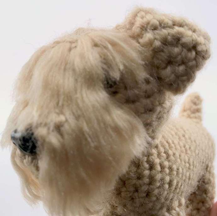 Soft-Coated Wheaten Terrier Realistic Crocheted Plush