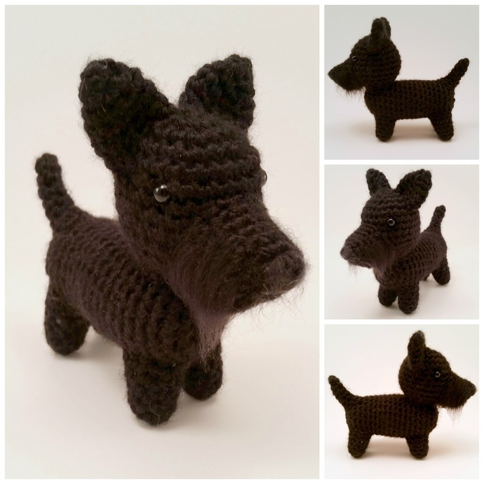 Scottish Terrier Realistic Crocheted Plush - *READY TO SHIP*