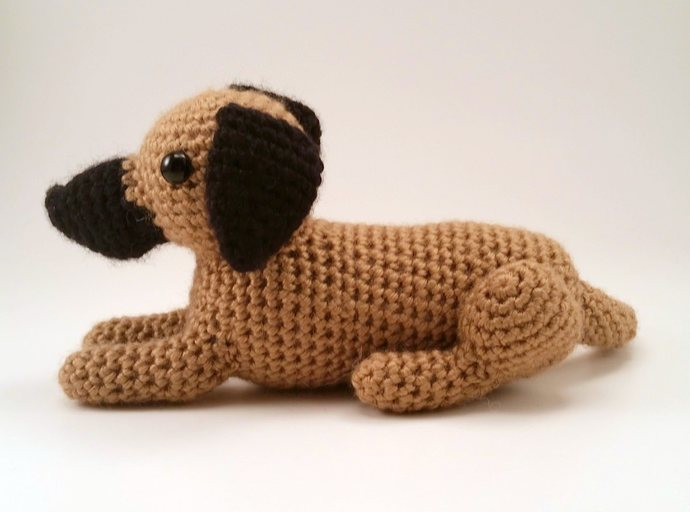 Great Dane (Fawn) Realistic Crocheted Plush - *READY TO SHIP*