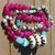 Long Beaded necklace for your wild side statement jewelry Hot pink Agate cool
