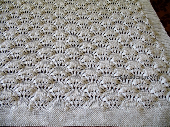 Billowing Clouds Baby Blanket Knitting Pattern 223 Afghan Throw Pattern Home