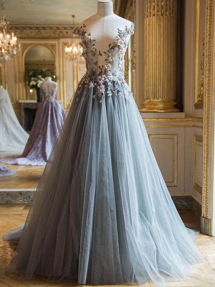Beautiful Prom Dresses Fairy Dress Sweep/Brush Train Prom Dress/Evening Dress
