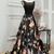 Long Black Prom Dresses Appliques Lace Sexy Prom Dress/Evening Dress P7613