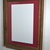 11x17 cabernet red mat in 16x20 recycled wood wall hung poster frame
