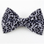 Elegant Bow Tie for Cats, Black and White, Gothic, Pet Accessories, Slide On,
