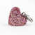 Rose Gold Heart Charm, Resin, Glitter, Zipper Pull, Pet Collar Charms, Handmade,