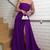 Women Elegant Strapless Evening Long Dresses 2019 with Slit Burgundy M7198