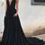Black Prom Dresses V-neck Sweep/Brush Train Sexy Cheap Prom Dress/Evening Dress