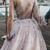 Unique Long Sleeve Prom Dresses One Shoulder A-line Sparkly Prom Dress Long