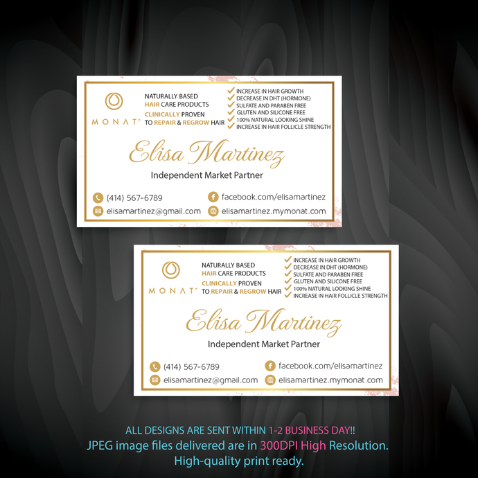 Monat Business Cards, Custom Monat Business Cards, Personalized Monat Business