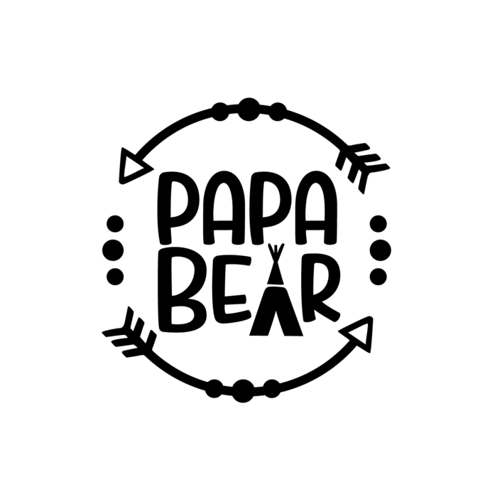 Papa Bear Graphics SVG Dxf EPS Png Cdr Ai Pdf Vector Art Clipart instant