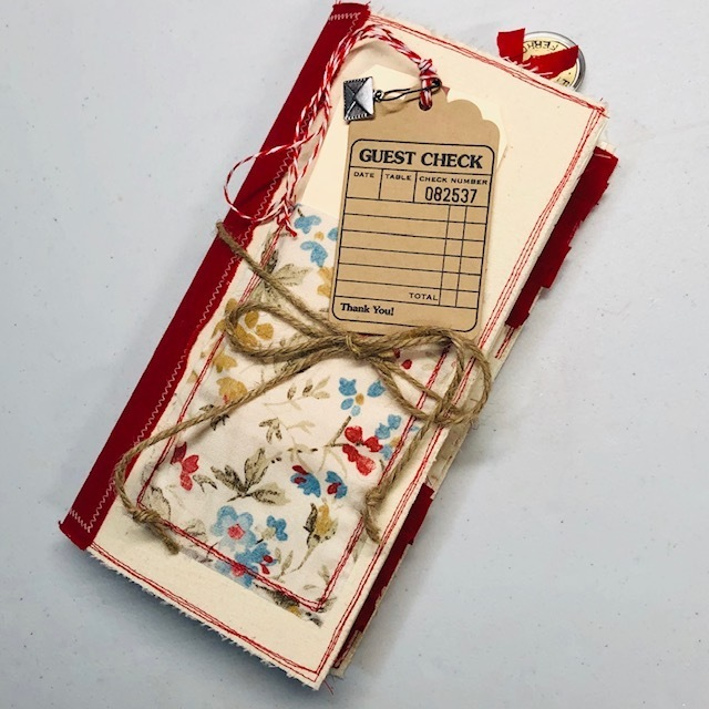 Cream w/Red Travelers notebook