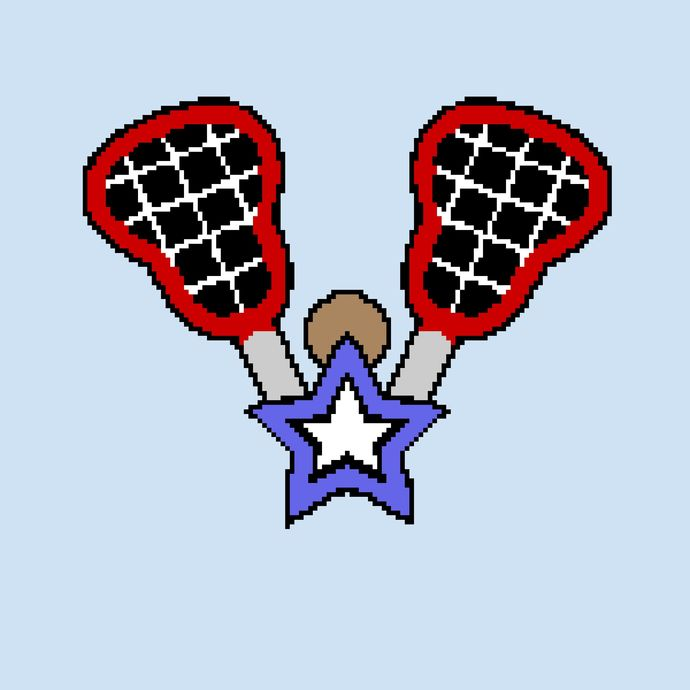 Lacrosse - LAX Sticks with Star