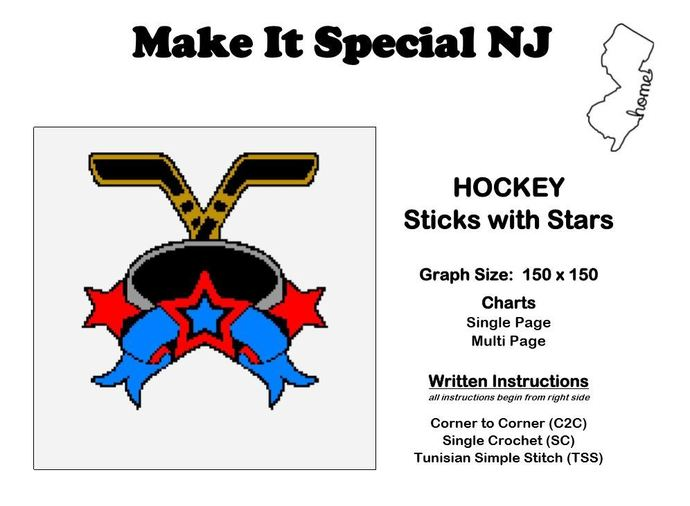 Hockey - Sticks with Stars