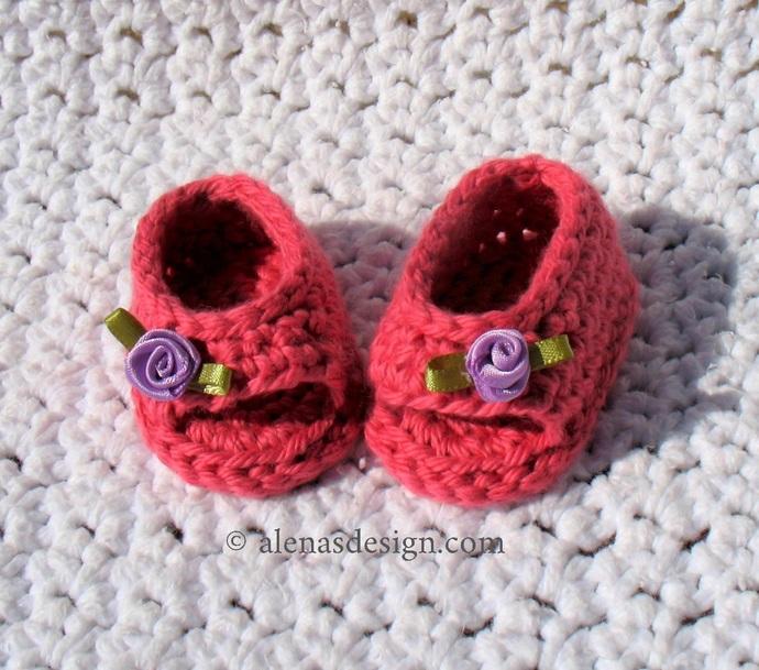 Crochet Pattern 224 Open-Toed Doll Shoes for 18 inch American Girl Doll Crochet