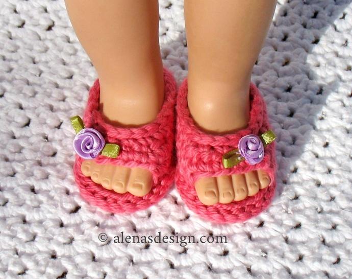Crochet Spot » Blog Archive » Crochet Pattern: Doll Booties ... | 546x690