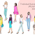 Watercolor fashion illustration clipart - Fashion Girls 24 - Light Skin