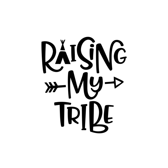 Raising My Tribe Graphics Svg Dxf Eps Png Cdr By Vectordesign On