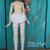 Wren's Pink/white striped stockings for Bbflocking Cricket dolls