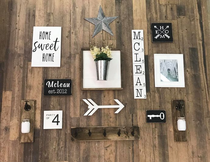 Family Gallery Wall with Shiplap Bucket Feature