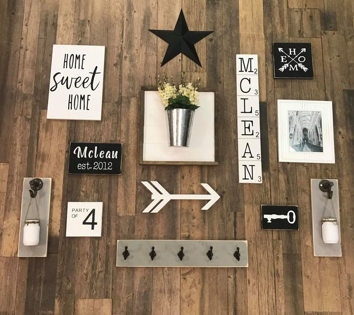 DIY- Family Gallery Wall Shiplap Bucket Feature