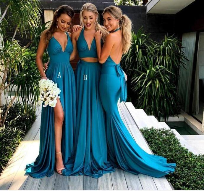 bridesmaid dresses, wedding party dresses, formal evening dresses Long