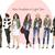 Watercolor fashion illustration clipart - Girls in Camo - Dark Skin
