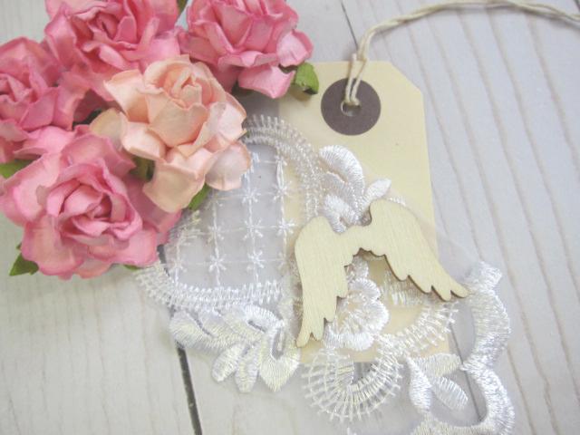 Wood Angel Wings Embellishment 5pcs